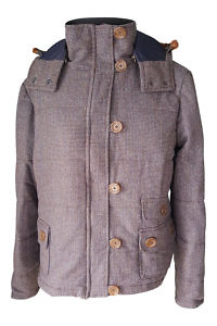 quilted tweed jacked with detachable hood