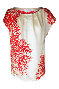 coral red silk top | ASITA SAHABI