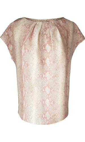 nude python printed silk blouse | ASITA SAHABI