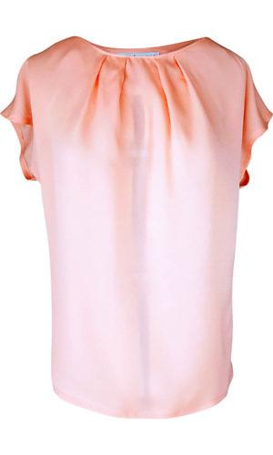 coral red silk top | salmon red silk blouse | ASITA SAHABI