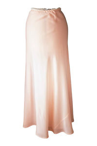 nude silk maxi skirt | formal wear