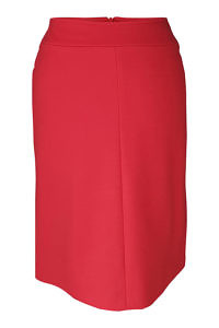 orante red midi skirt in wool | ASITA SAHABI