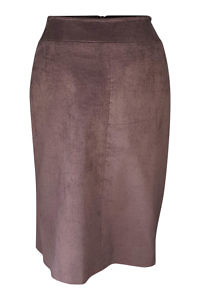 chocolate brown midi skirt in velvet cord