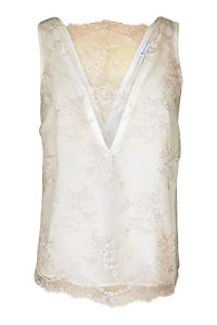 tank top in nude lace and silk | ASITA SAHABI