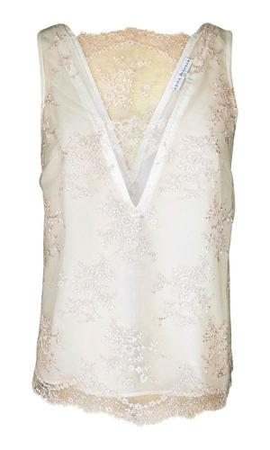 tank top in nude lace and silk | ASITA SAHABI