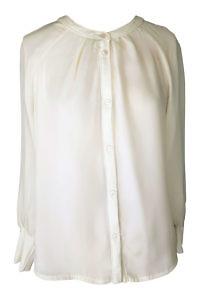 weite weisse Bluse aus Seide und Jersey von ASITA SAHABI