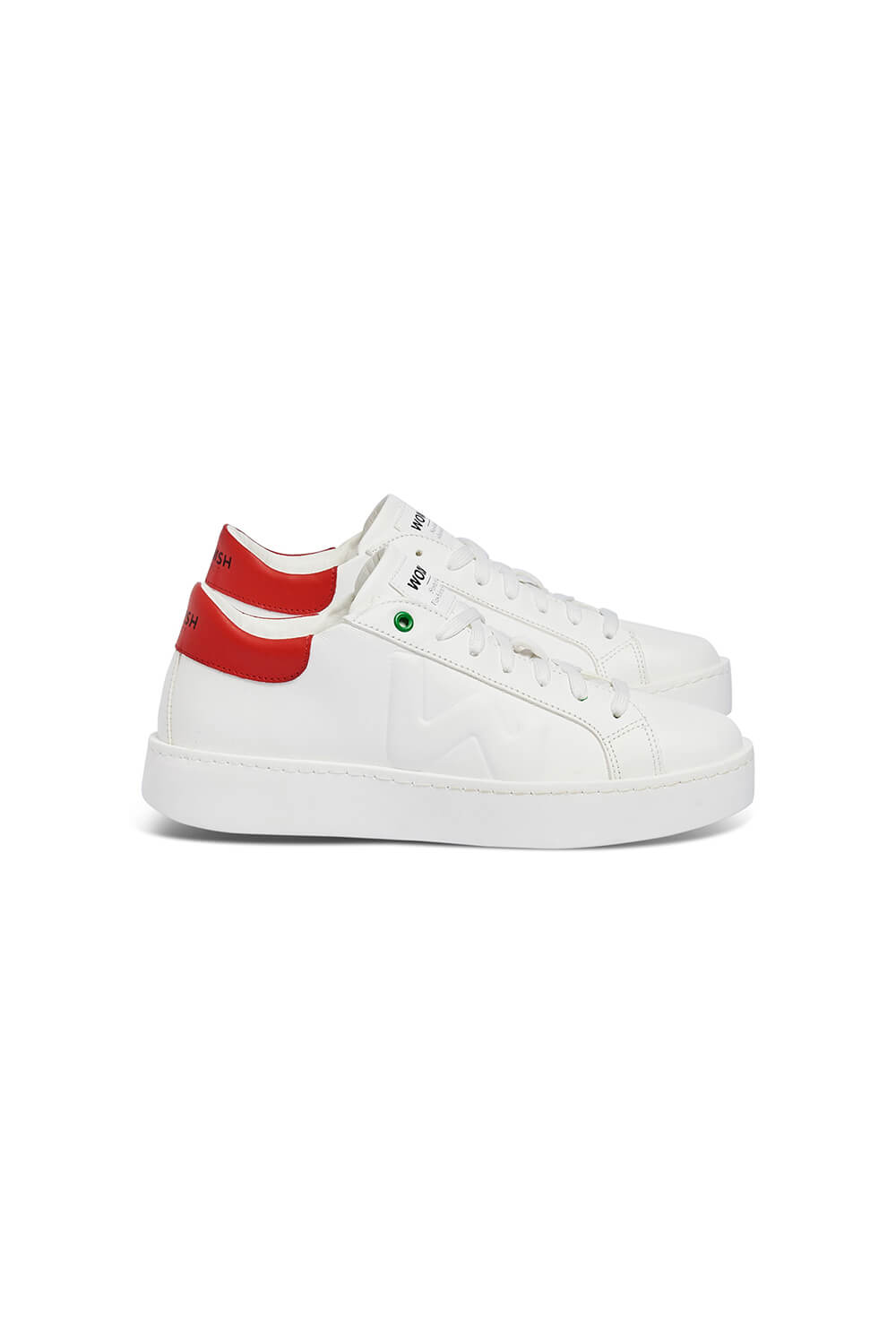 WOMSH Sneakers CONCEPT in white and red leather