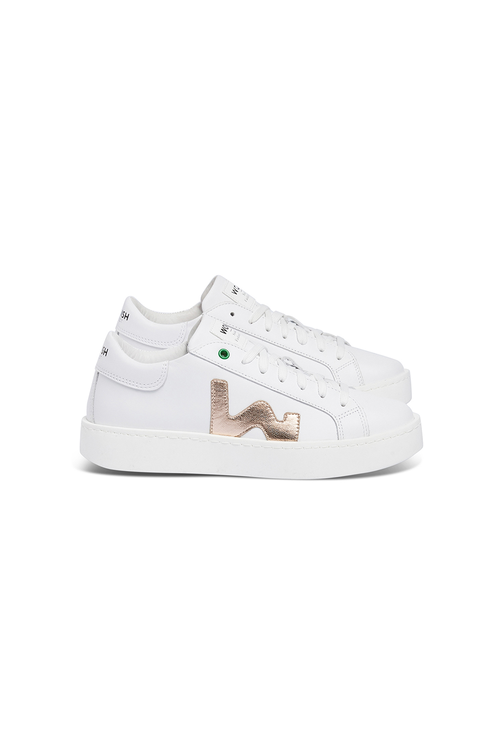 WOMSH Sneakers CONCEPT in white and gold leather