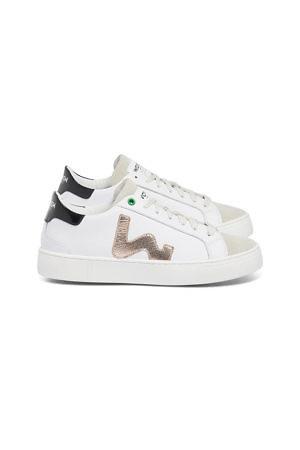 WOMSH weiße Sneakers CONCEPT mit Details in Kupfer und Schwarz