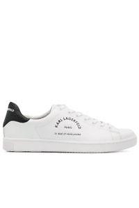 KARL LAGERFELD Sneakers 'Rue St-Guillaume' Sneakers in white leather with black details