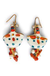 Ohrringe mit Krügen, Perlen und Korallen CEFALÙ
