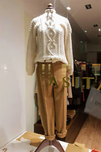 Ivory alpaca sweater with cognac Angora pants | ASITA SAHABI