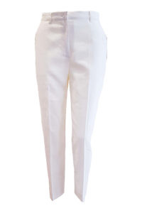 7/8 cigarette pants in ivory linen