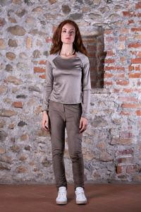 khaki Jerseytop mit Langarm | ASITA SAHABI