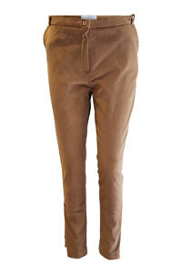 skinny pants in beige cotton velvet MAREIKE