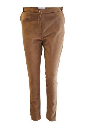 cigarette pants in beige cotton velvet
