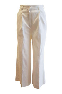 palazzo pants in an elastic ivory linen blend