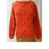 rostroter Alpaka-Pullover mit Zopfmuster | ASITA SAHABI