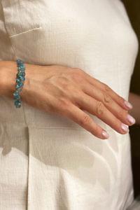 ASITA SAHABI blue aquamarine bracelet JOLIE | petrol blue bracelet
