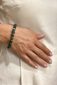 ASITA SAHABI mossquartz bracelet | dark green bracelet
