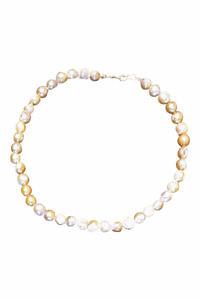 mehrfarbige Perlenkette aus Süßwasserperlen