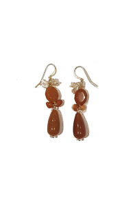earrings with Carneol and pearls MONTEPULCIANO