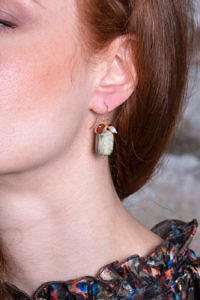 earrings with turquoise cordient