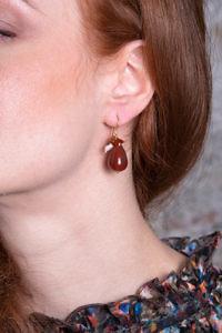 Ohrringe mit Karneol und Perlen NINA