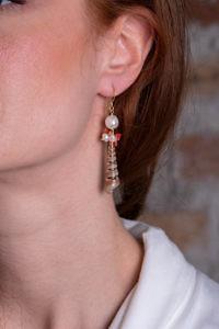 Ohrringe mit golden bemalten Muscheln TESSA