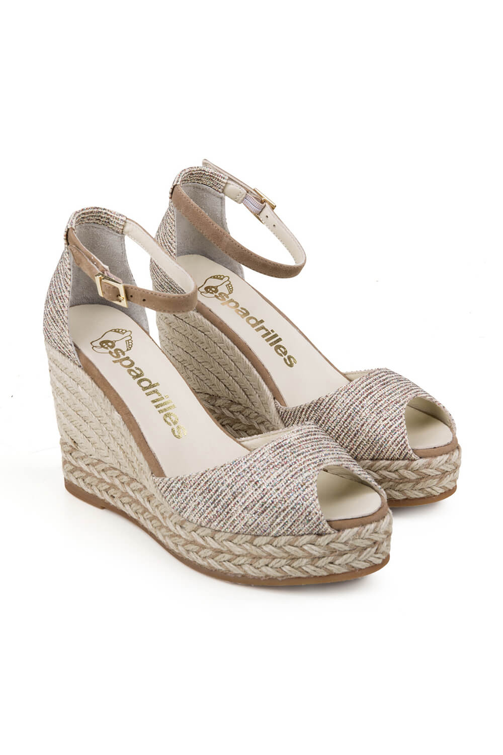Espadrilles open toe shoe made of Lurex ANDA CAMA MULTI