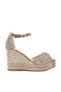 Espadrilles open toe shoe in lurex | ASITA SAHABI