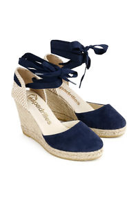 ultramarine blue leather wedges | ASITA SAHABI