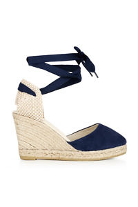 Dark blue Valencia espadrilles with ankle straps