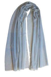 light grey pashmina MEL | 100% cashmere