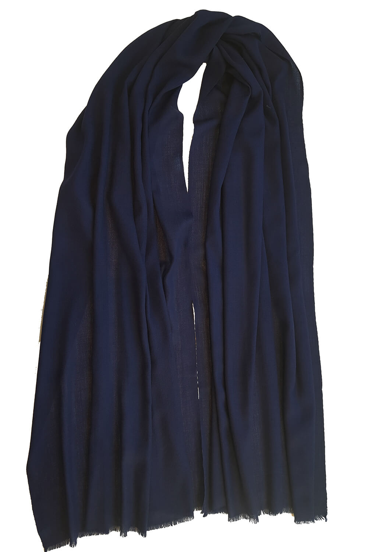 marine blue pashmina MEL   dark blue pashmina   100% cashmere