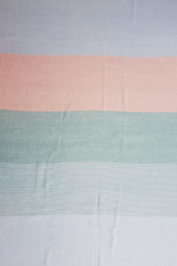 Pashmina MACARON with block stripes in pastel colors.
