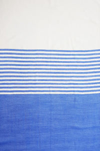 blue and white striped Pashmina CLAUDIA | 100% cashmere