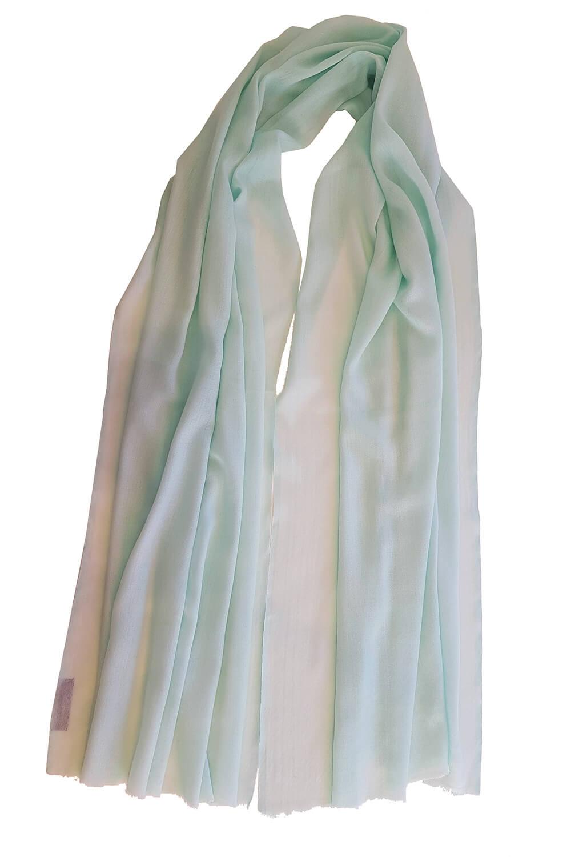 mint green pashmina MEL   100% cashmere   online exclusive