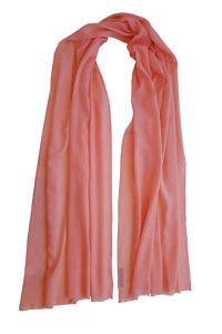 melonen-pinker Pashmina MEL | 100% Kaschmir | flamingo-roter Pashmina