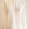 long sleeved blouse in matte light vanilla silk