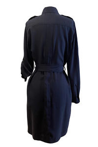 ASITA SAHABI knee length shirt dress with long sleeves and a stand up collar in tencel fabric