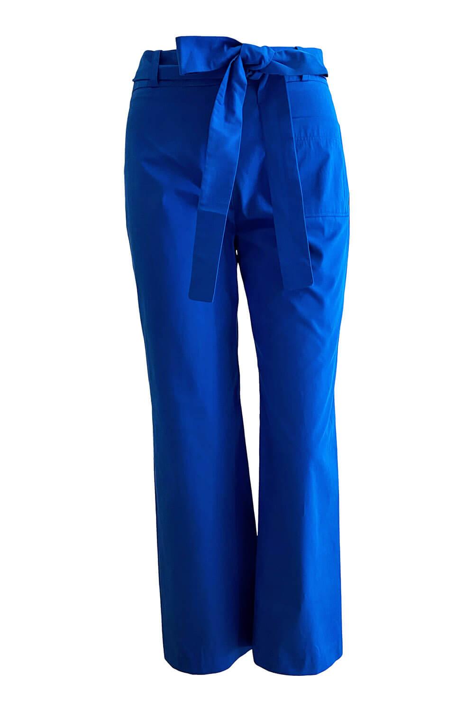 culotte pants in blue cotton gabardine MARLENE
