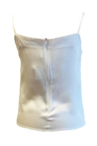 bustier top CARLA with spaghetti straps in ivory silk satin