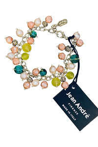 JEAN ANDRÉ bracelet in old pink, turquoise green and pistachio green made of resin GAIA