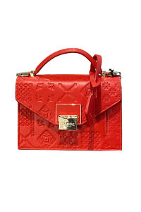 JADISE Sicily | red mini bag in majolica embossed leather LILY