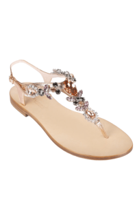 EDDICUOMO flat jewel sandals in nude colors - PREORDER | beige Positano-sandals