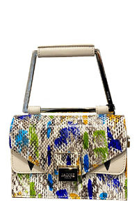 JADISE Sicilia | small multi-colored pouchette in python leather LILY