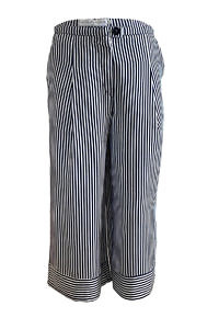culottes with blue and white stripes in a silk-viscose-blend NATALIE