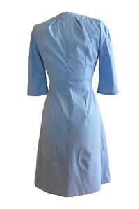 shirt dress LESLI in light blue cotton and A-line