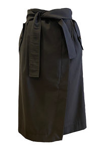 ASITA SAHABI olive green paperbag midi skirt in tencel fabric WINDHOEK